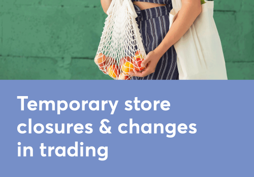 TEMPORARY CHANGES IN STORE TRADING