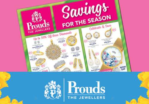 Prouds Catalogue Sale on now!